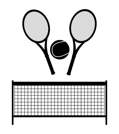 bounces: tennis design over monochrome background illustration  Illustration