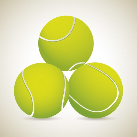 bounces: three table tennis ball mover vintage background illustration  Illustration