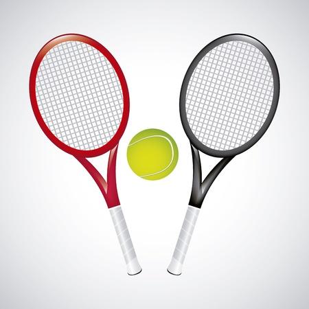 tennis design over vintage background illustration Stock Vector - 19772886