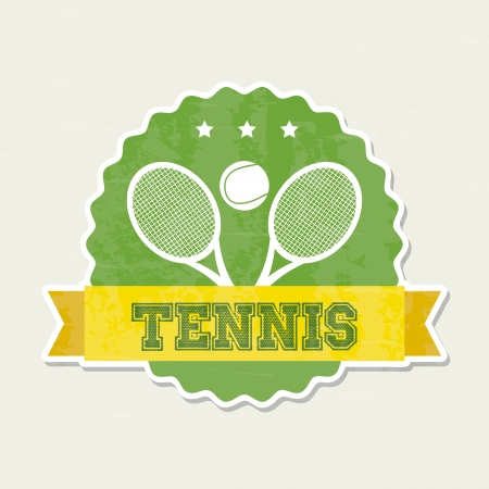 tennis frame over cream background illustration Stock Vector - 19772998