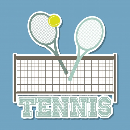 tennis design over blue background illustration  Stock Vector - 19772888