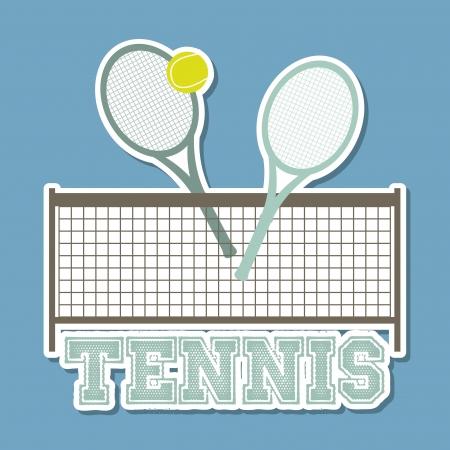 tennisball: tennis design over blue background illustration  Illustration