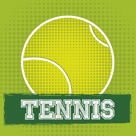 bounces: tennis ball design over green background illustration