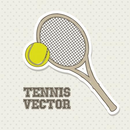 bounces: tennis design over cream background illustration
