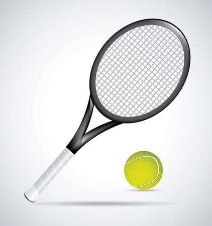 raqueta de tenis: diseño del tenis sobre cosecha ilustración de fondo Vectores