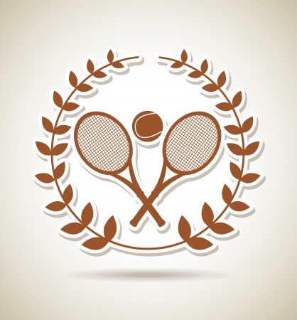 tennis championship over vintage background illustration   Stock Vector - 19772798
