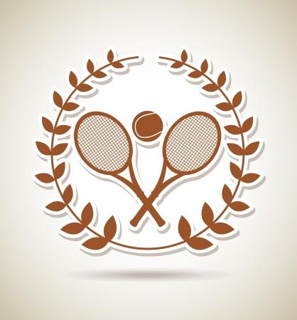 bounces: tennis championship over vintage background illustration