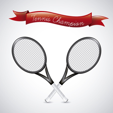 tennis champions over vintage , background illustration Stock Vector - 19772949