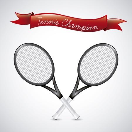 bounces: tennis champions over vintage , background illustration