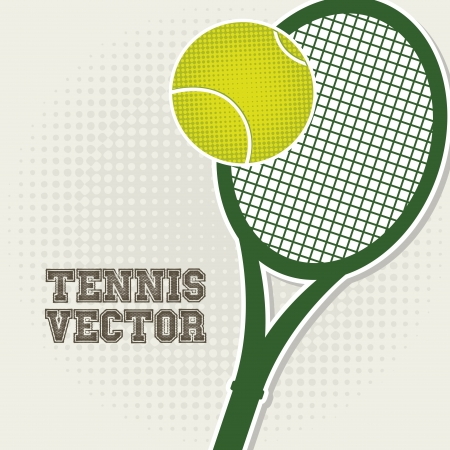 tennis design over vintage background illustration Stock Vector - 19772954
