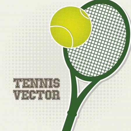 bounces: tennis design over vintage background illustration
