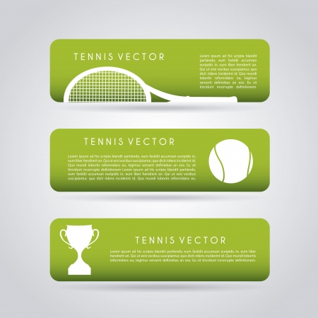 implements: tennis infographics over gray background illustration  Illustration