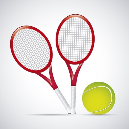 bounces: rackets design over vintage background illustration