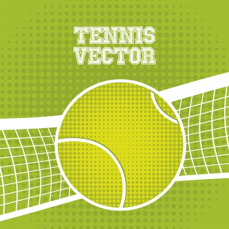 bounces: tennis ball design over green background illustration