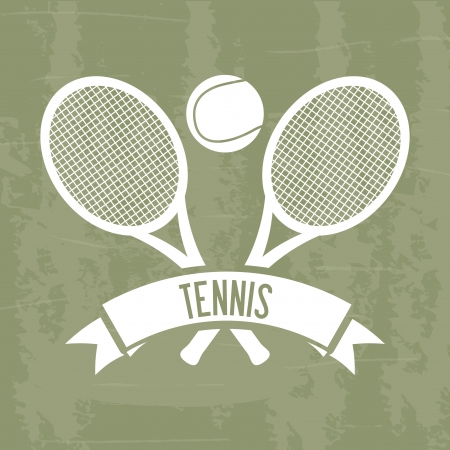 bounces: tennis design over grunge background illustration