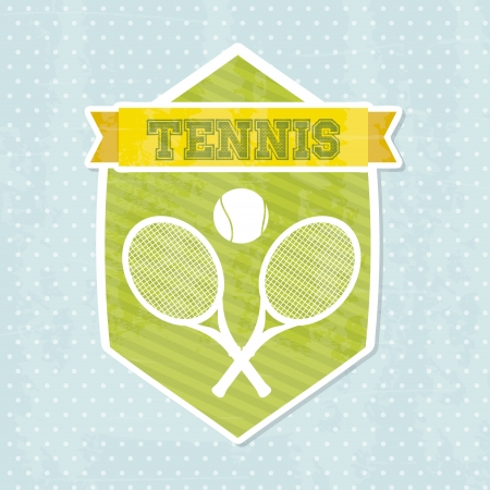 tennis icon over blue background illustration  Stock Vector - 19773000
