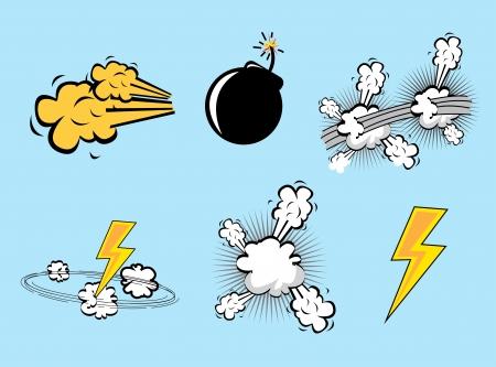 bolt: comics icons over blue background illustration  Illustration