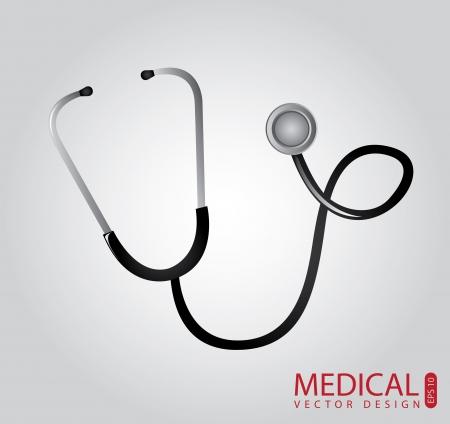 medical design over gray background illustration  Illustration