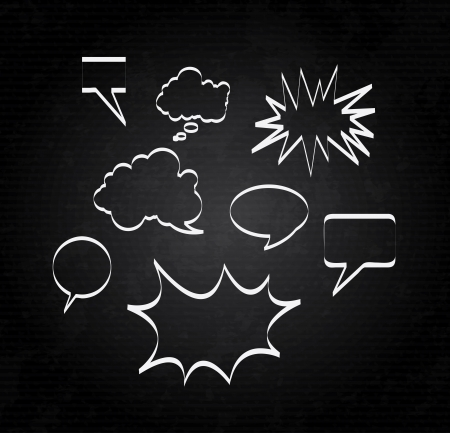 silhouette comics over black background illustration Vector