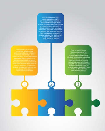 info graphic: infographics puzzle over gray background illustration