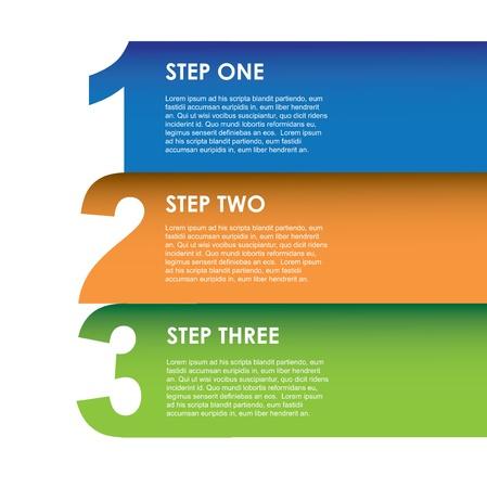 trois: infographies num�riques sur fond blanc illustration Illustration