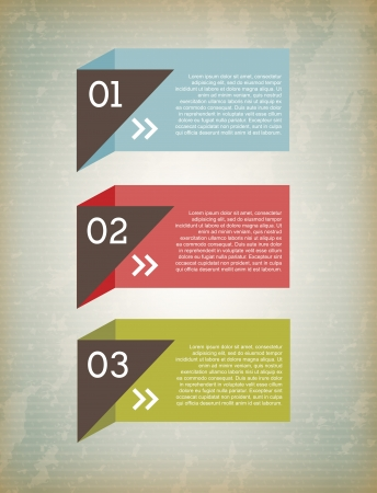 infographic boxes over grunge background illustration Stock Vector - 19773412