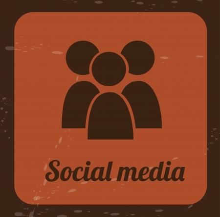 brink: social media icon over brink color background illustration