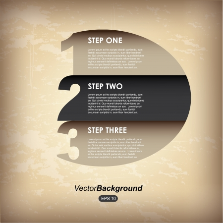 infographics circle over vintage background illustration Vector