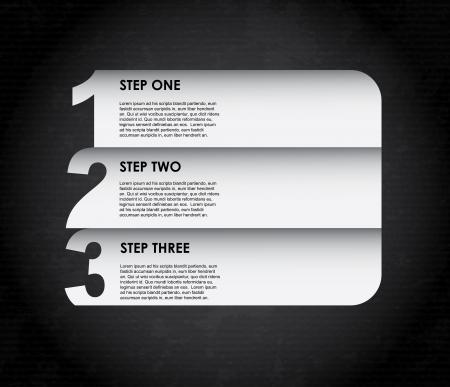 infographics white over black background illustration Vector