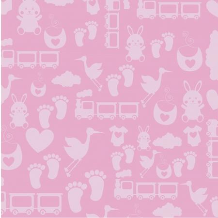 stuff toy: baby skin over pink background illustration Illustration