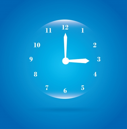 watch over: bubble watch over blue background illustration