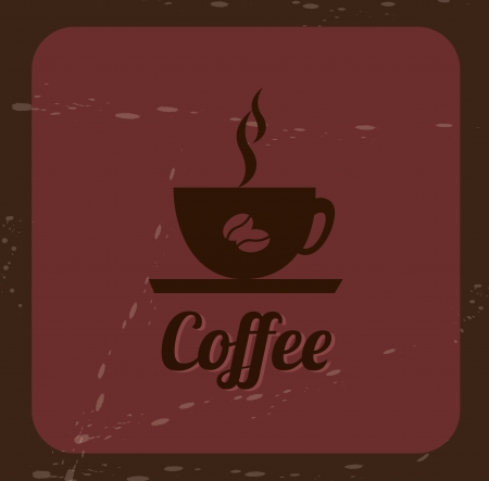 coffee design over red background illustration Stock Vector - 19773174
