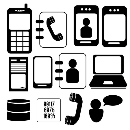 communication technology icon over white background vectro illustration Stock Vector - 19916335
