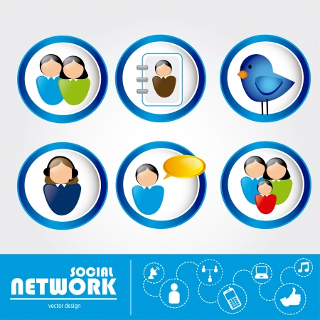social networks over white background vector illustration Vector