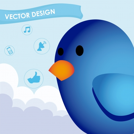 bird design over sky background vector illustration  Vector