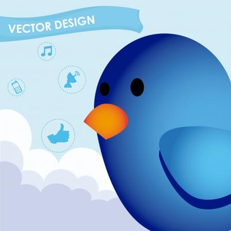 bird design over sky background vector illustration Stock Vector - 19916332