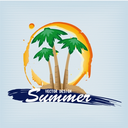 summer design over blue background vector illustration  Vector