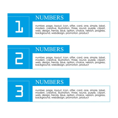 infographics numbers over white background vector illustration  Stock Vector - 19916445
