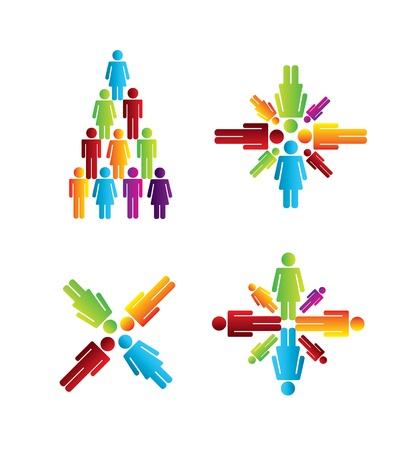 team work over white background vector illustration Stock Vector - 19916503