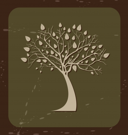 tree design over green background vector illustration  Vector