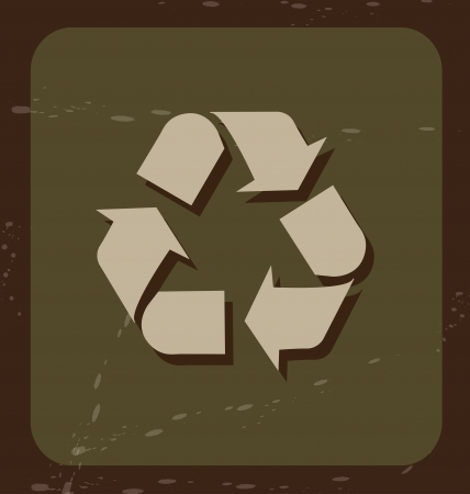 recycler icon over green background vector illustration  Stock Vector - 19916512