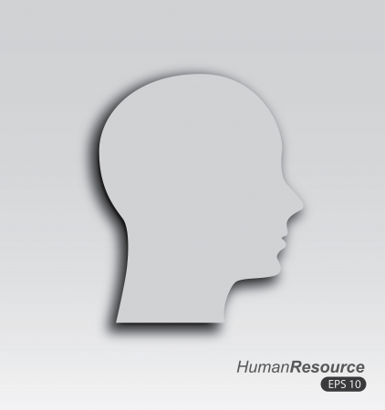 human profile over gray background vector illustration  Vector