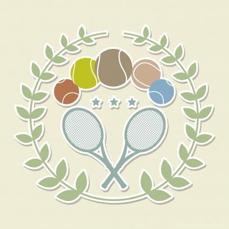 tenis frame over white background vector illustration Stock Vector - 19916566