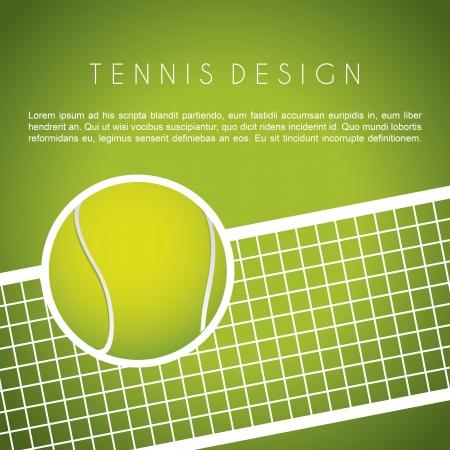 tennis: conception de tennis sur fond vert vecteur de fond