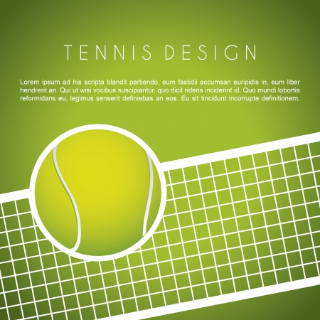 Tennis-Design über grünem Hintergrund Vektor-Illustration Vektorgrafik
