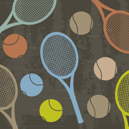 tennis design over grunge background vector illustration Vector