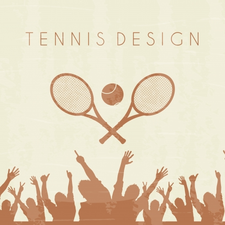 tennis silhouette over brown background vector illustration Vector