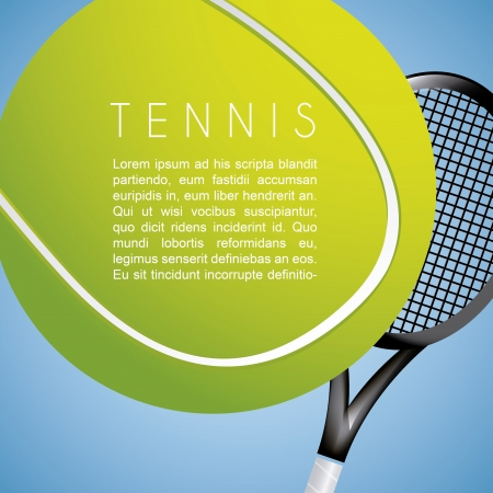 tennis design over blue background vector illustration  Vector