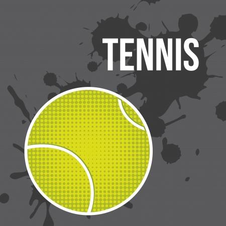 tennis ball over gray background vector illustration Stock Vector - 19916578