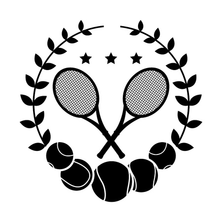 tennis seal over white background vector illustration  Vector